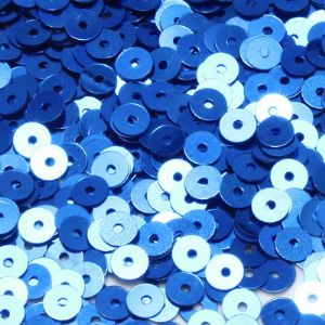 Sequins, Dark blue, Diameter 5mm, 860 pieces, 5g, Disc shape, Sequins are shiny, [CZP346]
